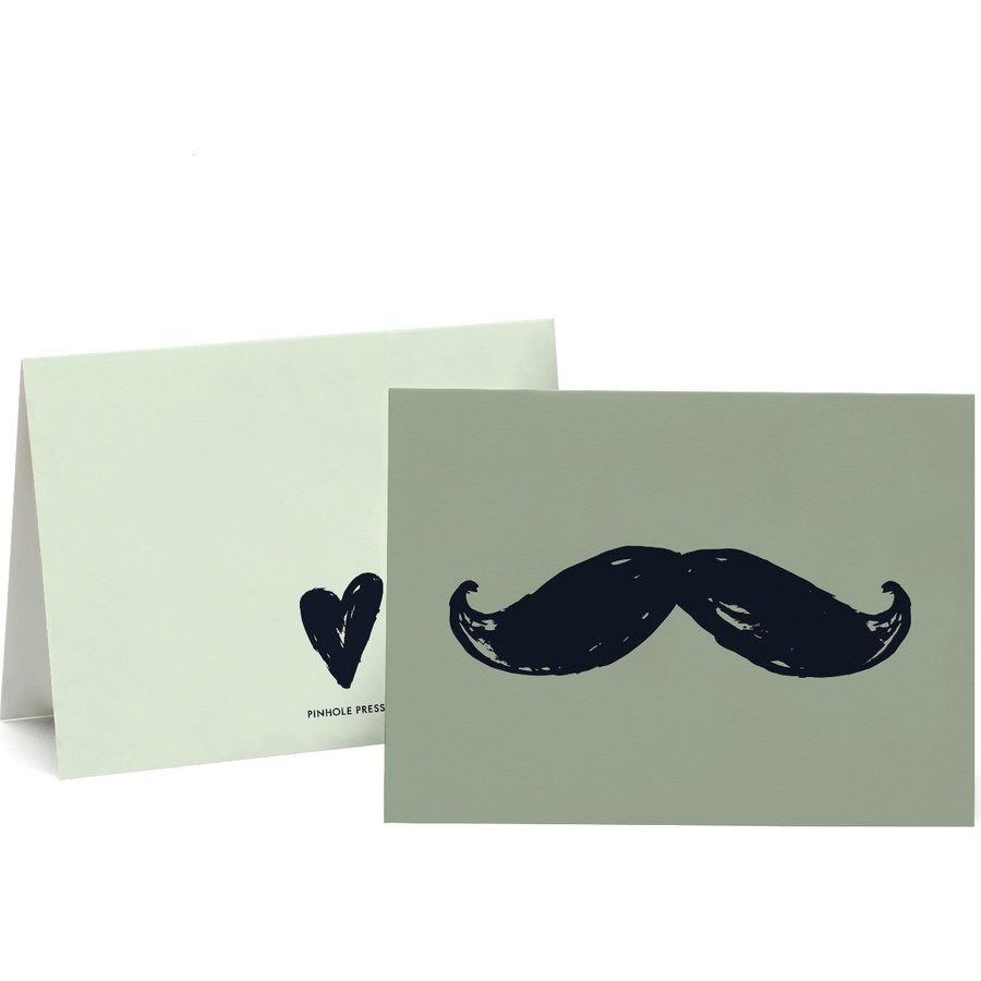 Father's Day Mustache Photo Card