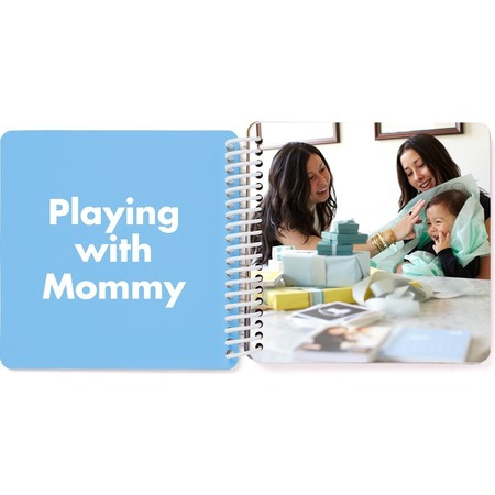 Mommy & Me Board Book - Blue Spread