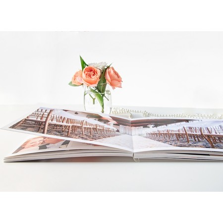 Softcover Landscape Layflat Photo Book Open
