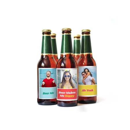 Custom Colorful Beer Bottle Labels