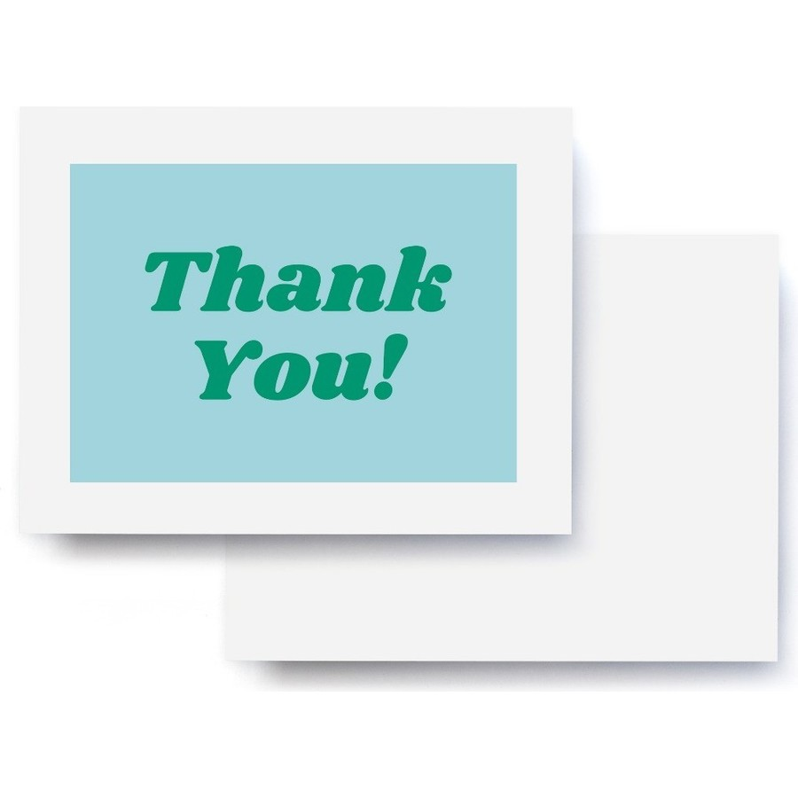 Thanks You! Blue & Green  Thank You Card
