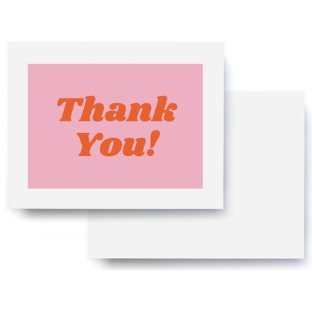 Thanks You! Pink & Red Thank You Card