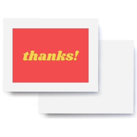 thanks! Red & Yellow Thank You Card