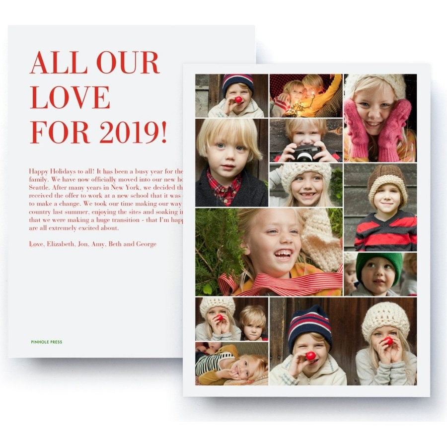 All Our Love Holiday Collage Card, Red