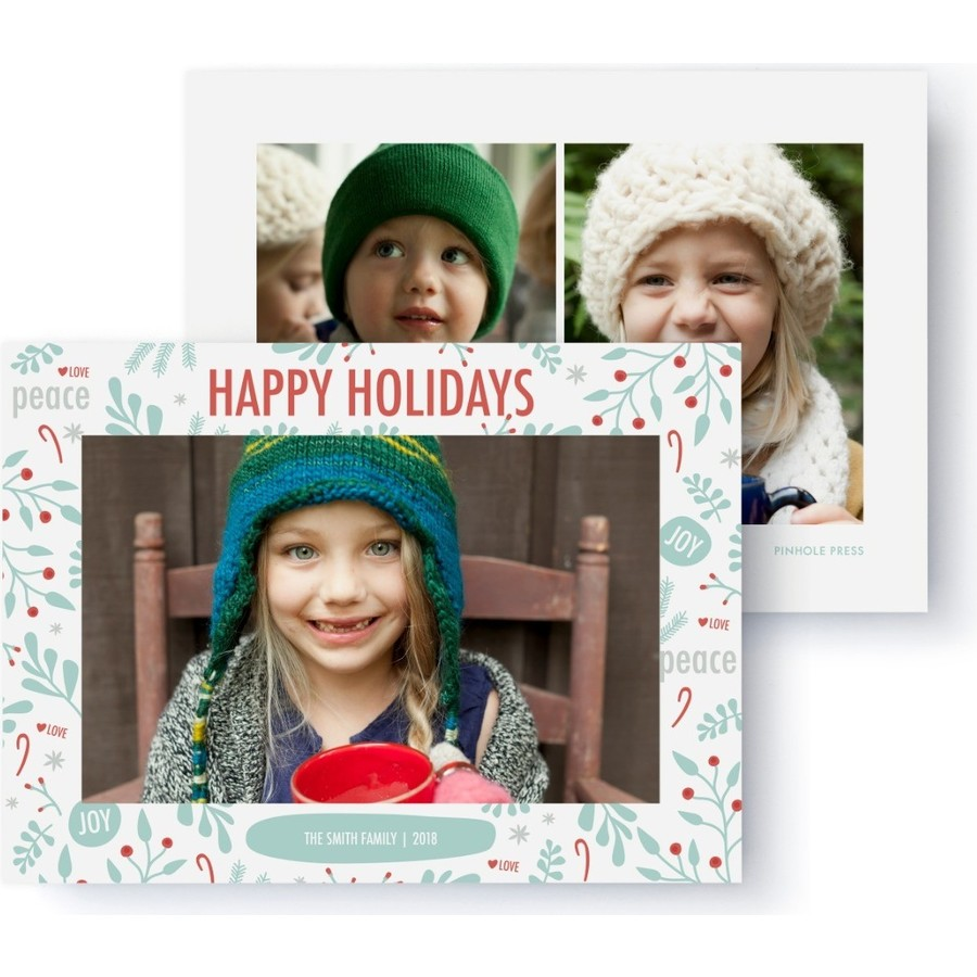 Holiday Doodles Photo Card, Front Detail