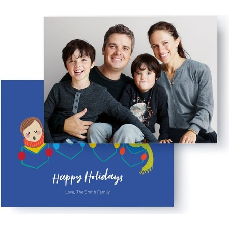 Carolers Holiday Photo Card, Back Detail