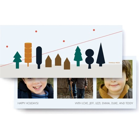 Holiday Forest Photo Card, Front Detail