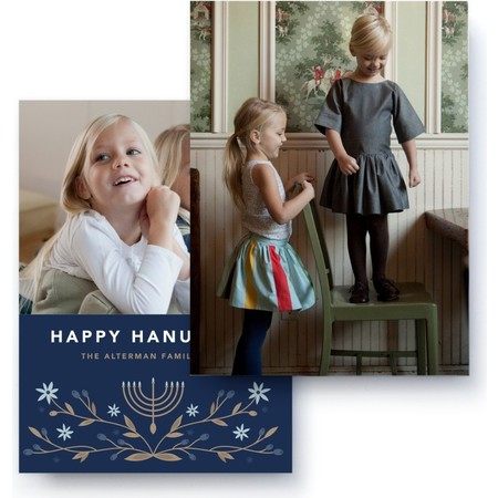 Hanukkah Photo Card, Back Detail