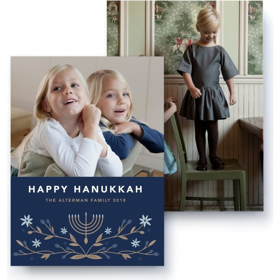 Hanukkah Photo Card, Front Detail