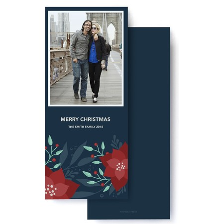 Holiday Floral Photo Card