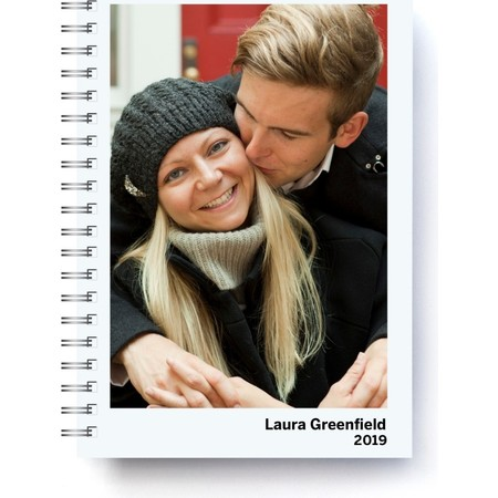 2019 Softcover Photo Day Planner, Gray Cover Detail