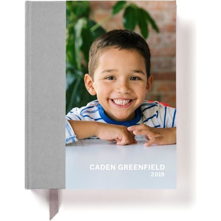 2019 Hardcover Photo Day Planner, Gray Cover