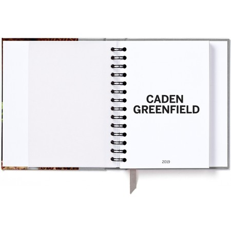 2019 Hardcover Photo Day Planner, Gray Title Page Detail
