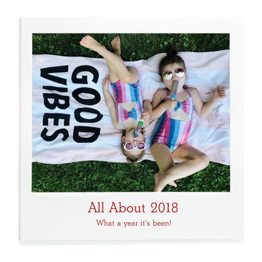 All about 2018 fill-in photo book, cover