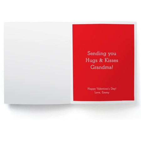 'Why I love my Grandma' Greeting Card Detail