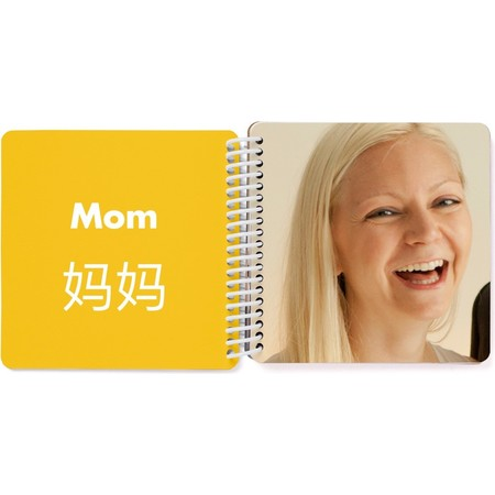 Bilingual Board Book for Kids, Korean Mom