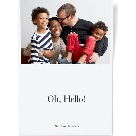 Multi-Photo Minimalist Greeting Card, Inside