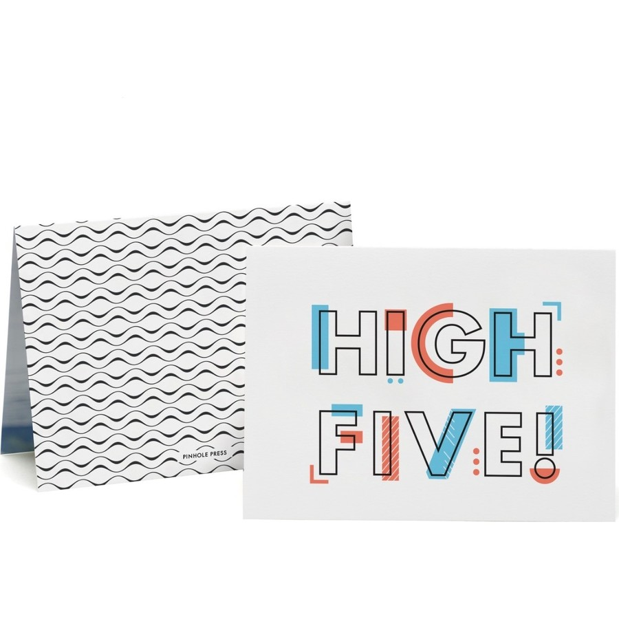 High Five Photo Card, Front & Back