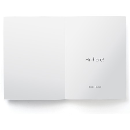 Modern & Minimal Photo Card, Inside