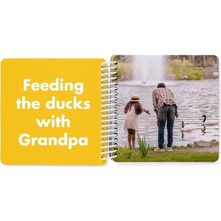 Grandpa & Me Board Book, Yellow Page