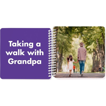 Grandpa & Me Board Book, Purple Page