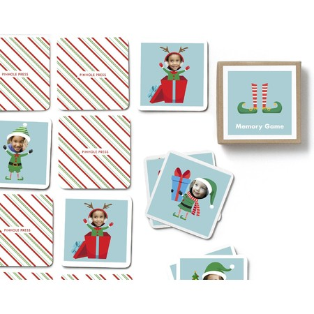 Holiday Elf Photo Mmemory Game, Detail