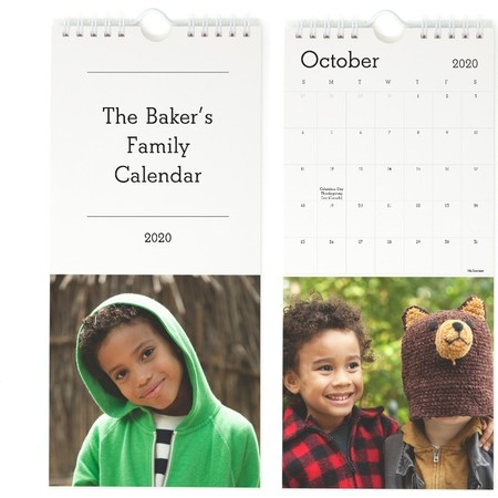 Perforated Wall Calendar, Month Pages