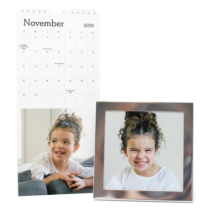 Perforated Wall Calendar and Frame
