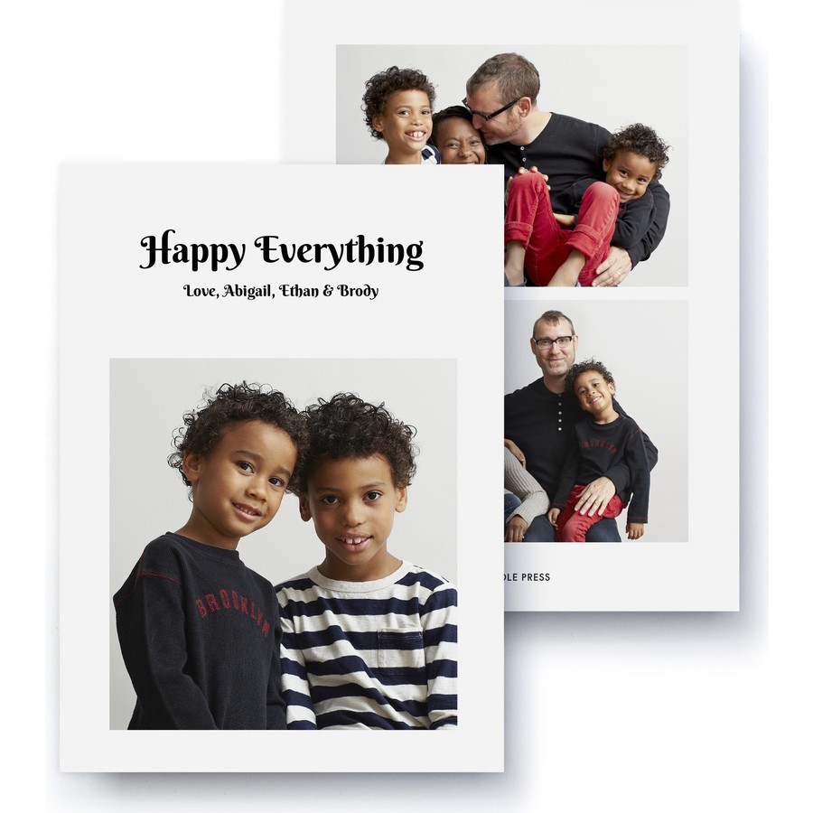 Happy Everything Holiday Photo Card