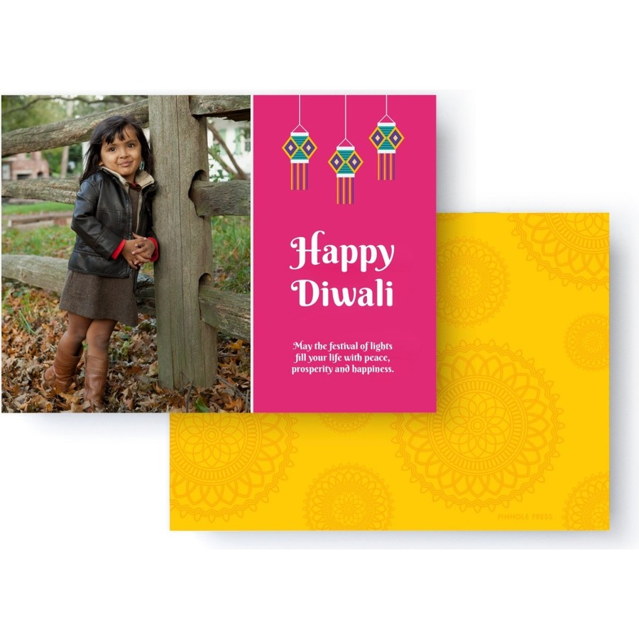 Diwali Photo Card with Laterns