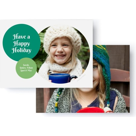 Green Circles Holiday Photo Card