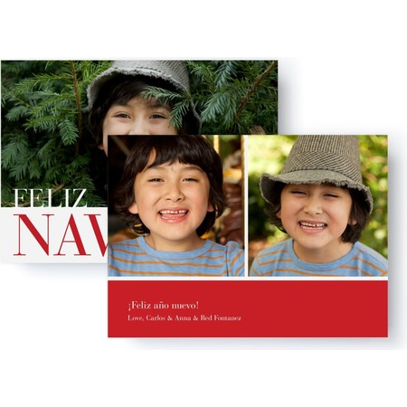 Feliz Navidad Holiday Photo Card, Back Detail