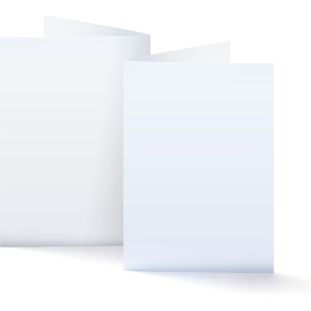 A7 Side Folded Vertical Card