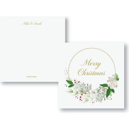 Merry Christmas Wreath Holiday Card
