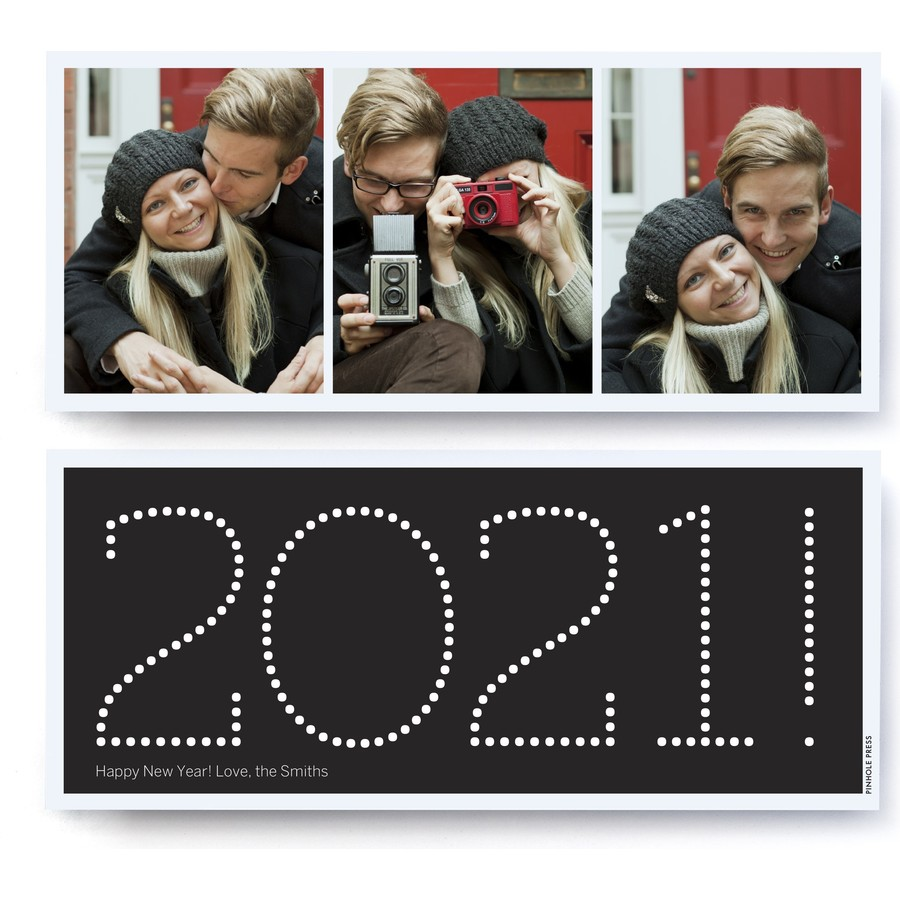 New Years Photo Card - Black 2021