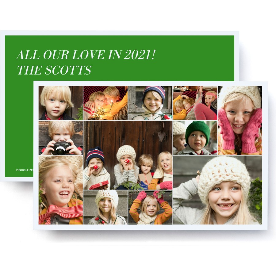 Jumbo Collage Holiday Photo Card