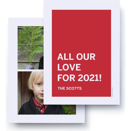 All Our Love Photo Card Back - 2021