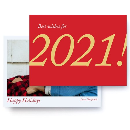 Best Wishes for 2021 Photo Card