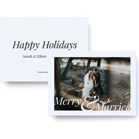 Merry and Married Holiday Photo Card