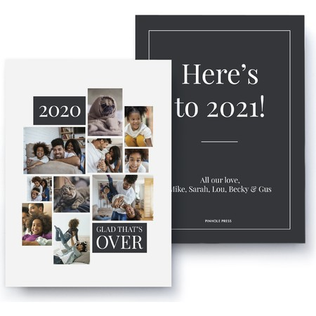 Glad That's Over Holiday Card, Black
