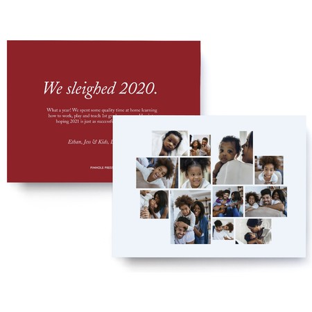 We sleighed 2020 holiday new years card
