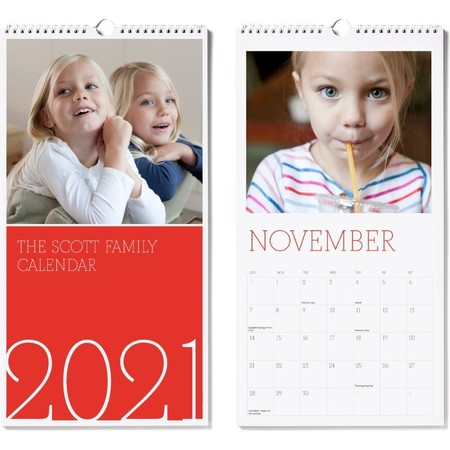 2021 Large Wall Calendar Red Cover 2