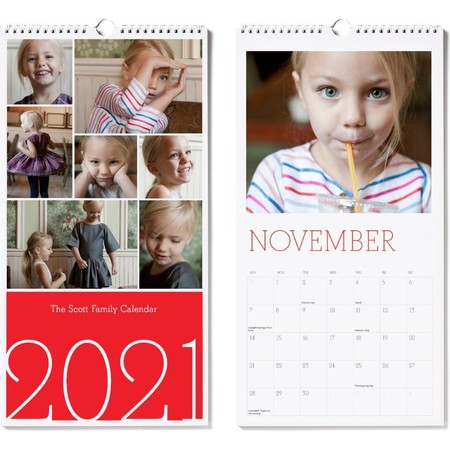 2021 Large Wall Calendar, Red Cover 3