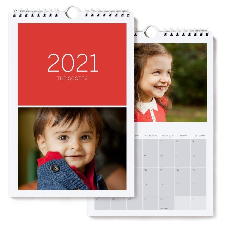 2021 Small Wall Calendar, Red Cover