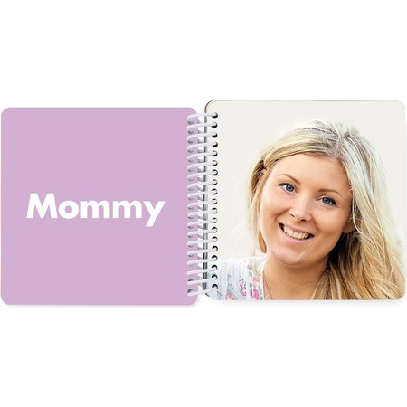 Mini Board Book of Names & Faces - Mommy