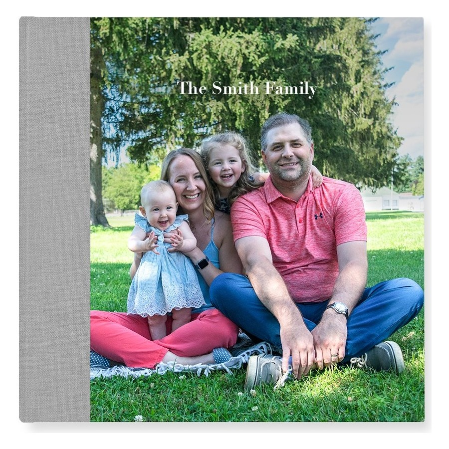 Hardcover Square updated photo - Grey