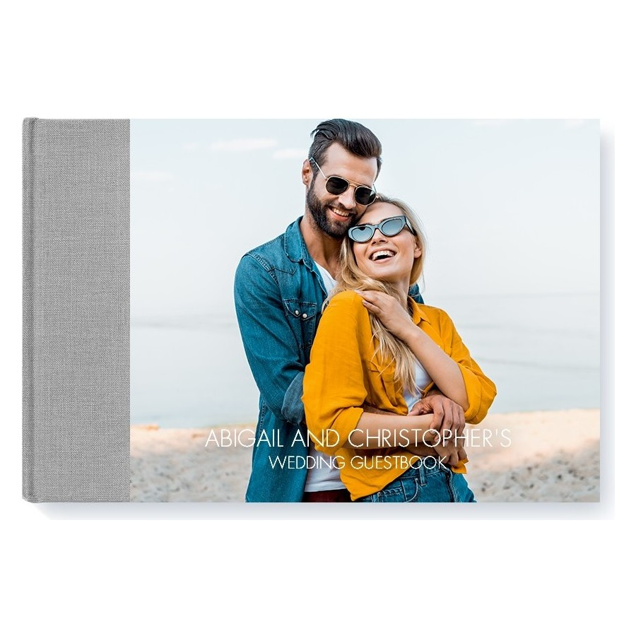 Hardcover Layflat Guest Book Modern - Grey - Cover