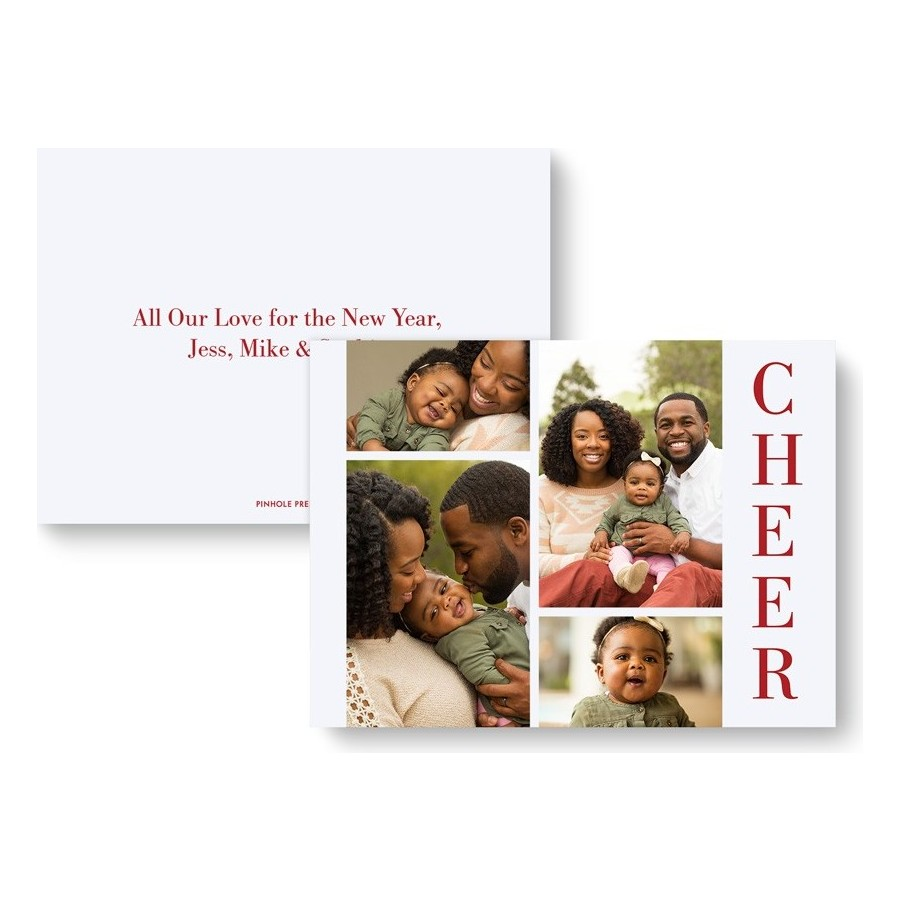 Cheers Holiday Photo Card - Front