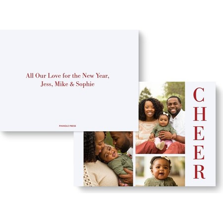 Cheers Holiday Photo Card - Back