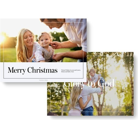 Glory to God Holiday Photo Card - front